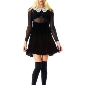 UNIF 'Wednesday Dress' Size S Dolls Kill -Like New